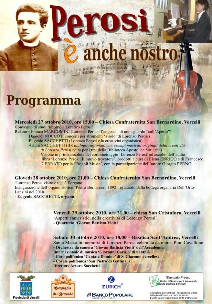 programma Lorenzo Perosi